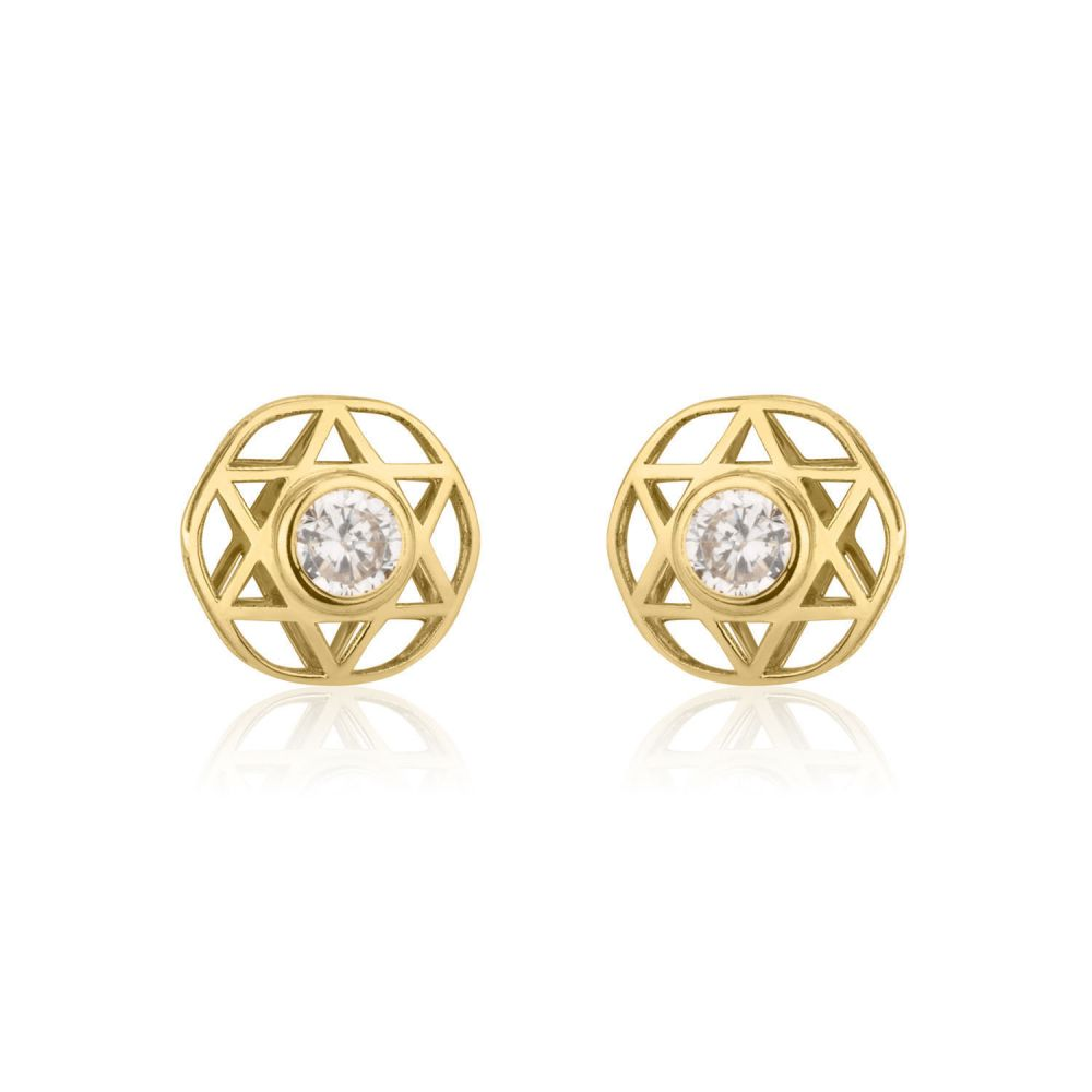 Girl's Jewelry   Gold Stud Earrings -  Shooting Sparkling Star