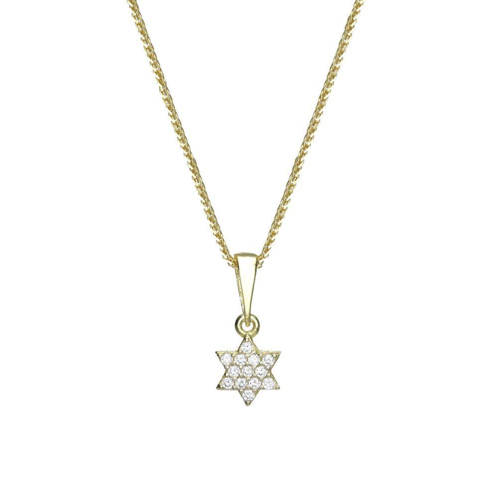 Women's Gold Jewelry | Gold Pendant - Star of David (Shalom)