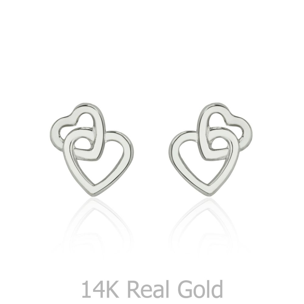 Girl's Jewelry | Gold Stud Earrings -  United Hearts