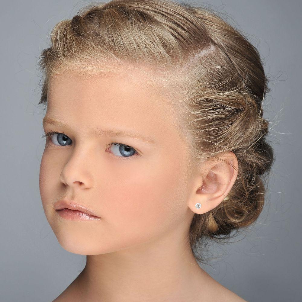 Girl's Jewelry | Gold Stud Earrings -  Katia Circle - Small