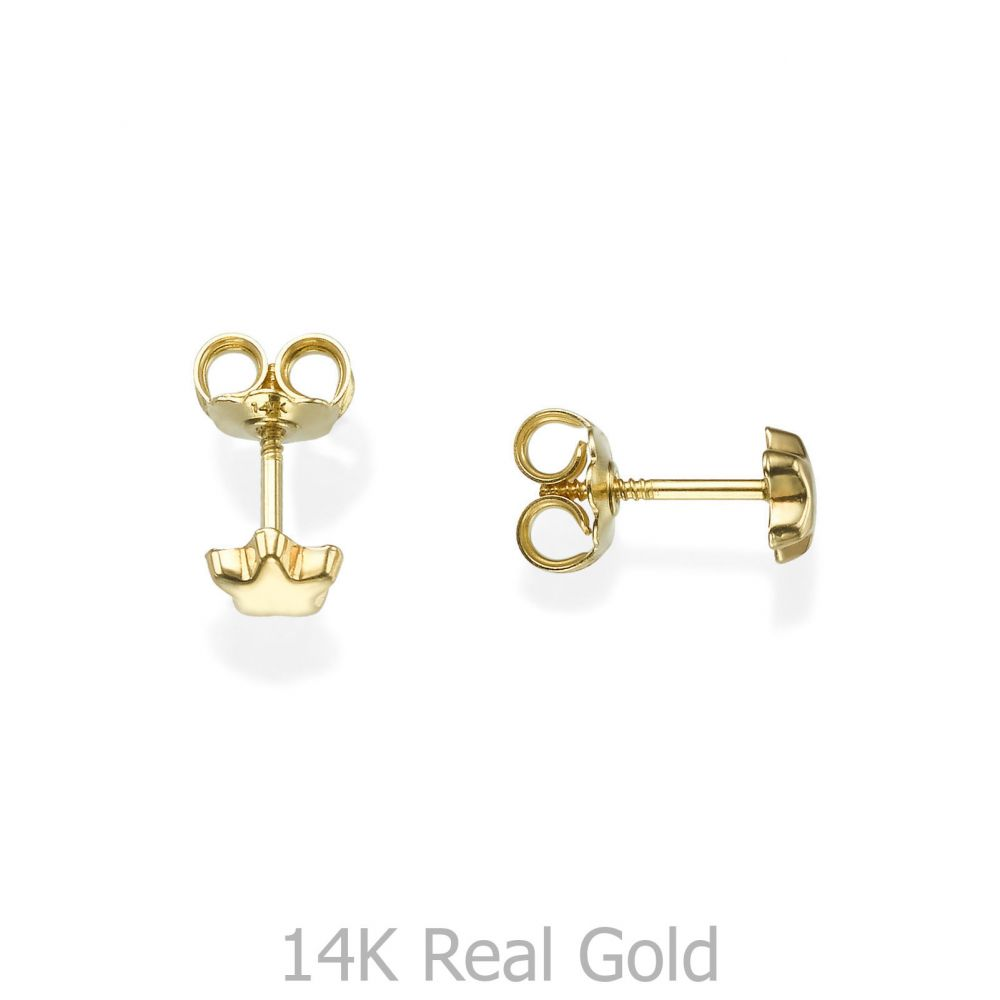 Girl's Jewelry | Gold Stud Earrings -  Shining Star