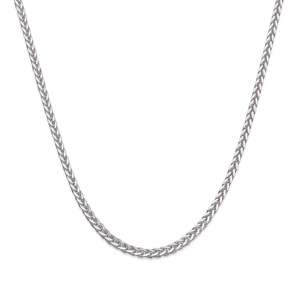 Gold Chains | Spiga Necklace -  Elegant Braid, 0.3 MM