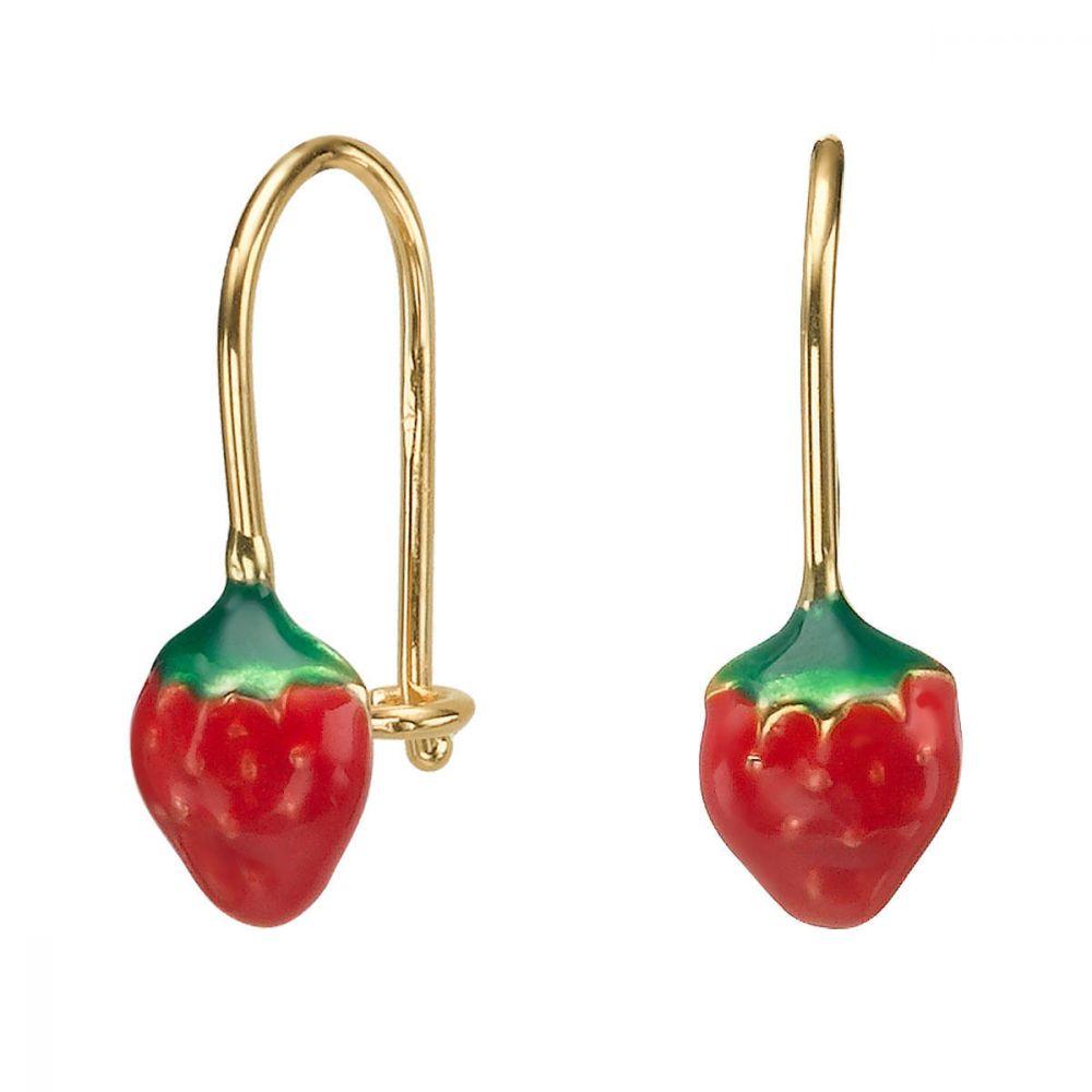 Girl's Jewelry   Earrings - Strawberry Berry