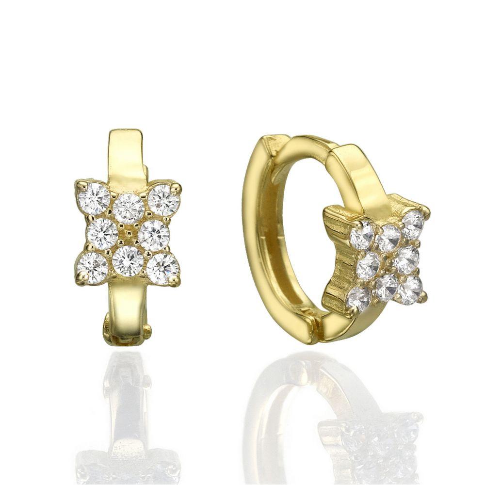 Gold Earrings | Huggie Gold Earrings -Butterfly Mia