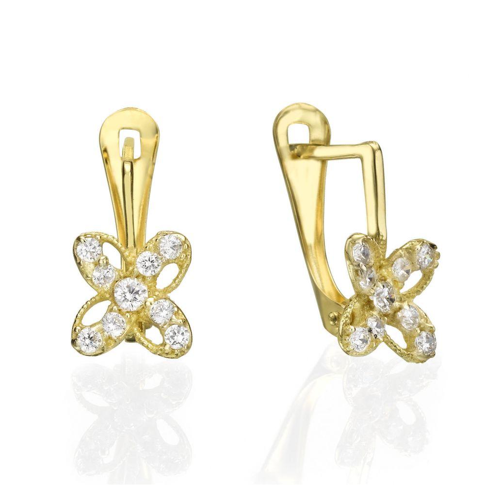 Gold Earrings | Drop Earrings - Flower of Julia