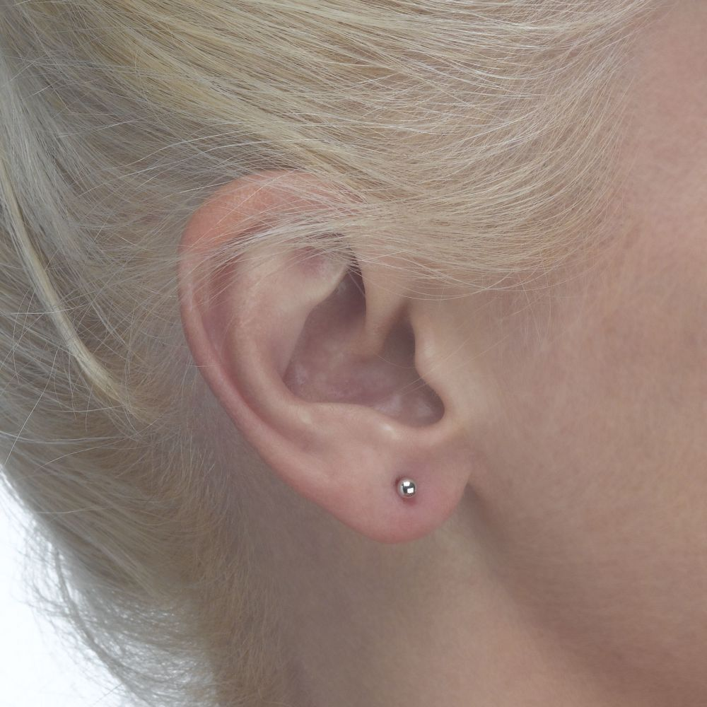 Girl's Jewelry | Gold Stud Earrings -  Classic Circle - Small