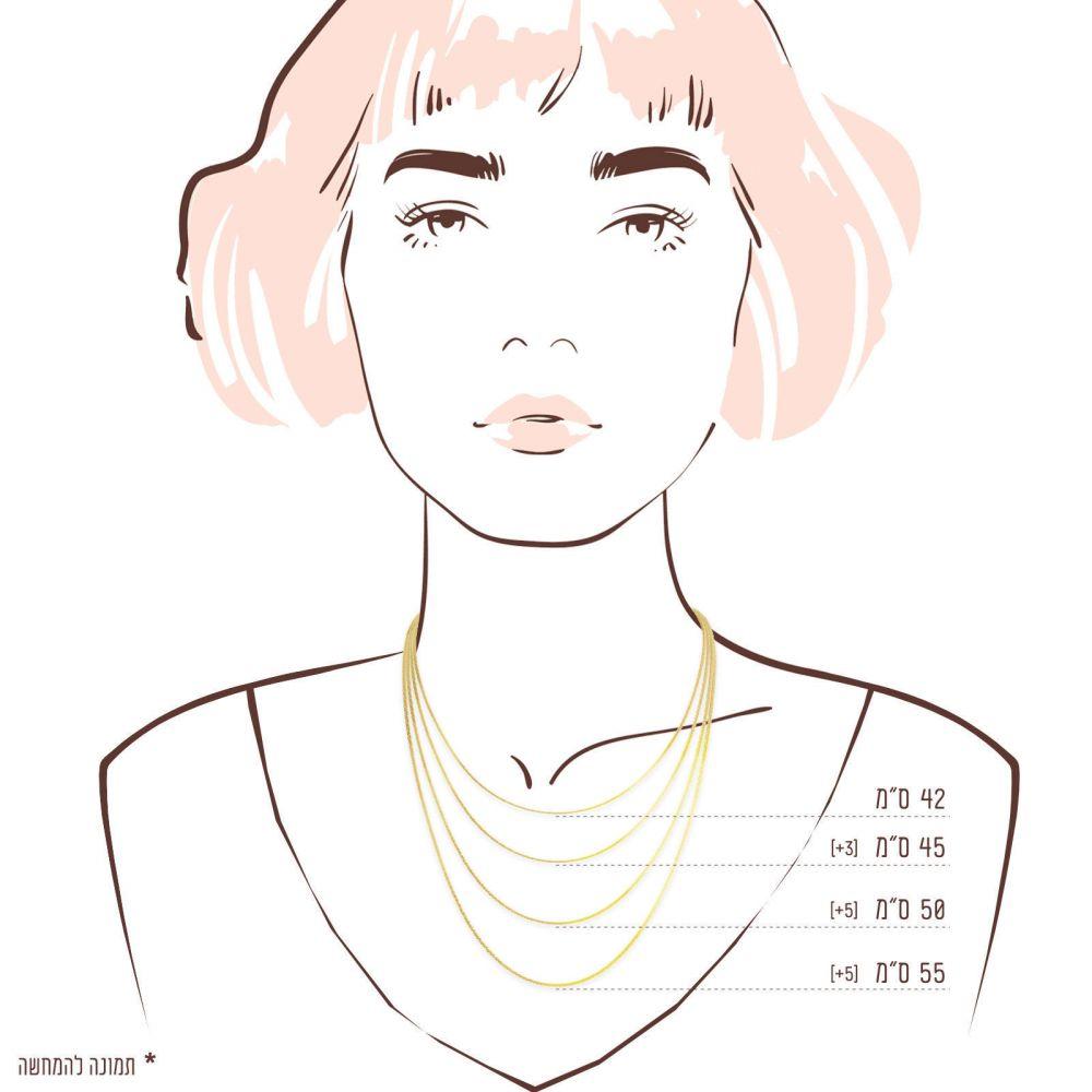 Gold Chains | Spiga Necklace -  Elegant Braid, 1 MM