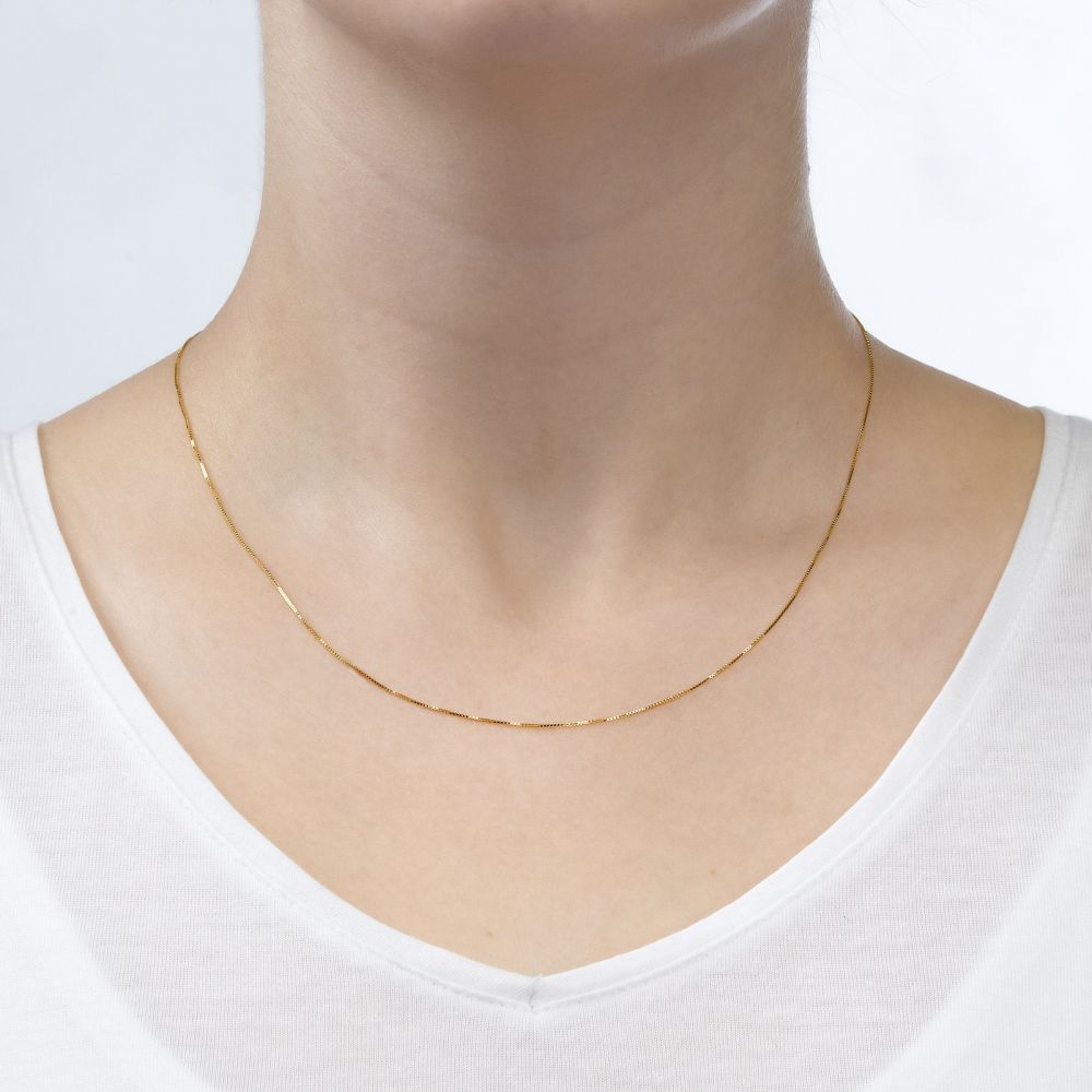 Gold Chains | Venice Chain Necklace Yellow Gold - Classically Delicate, 0.53mm