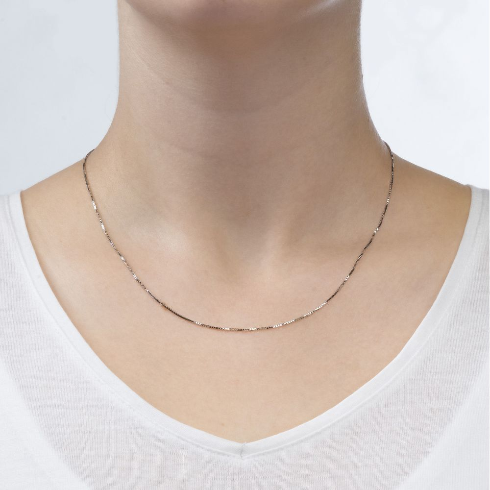 Gold Chains | Venice Chain Necklace White Gold - Classically Delicate, 0.8mm
