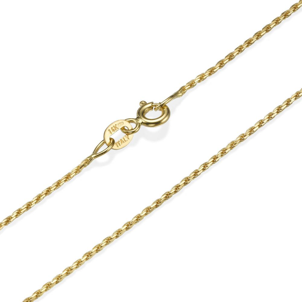 Gold Chains | Rope Chain Necklace Yellow Gold - Ropes of Love, 1.0mm