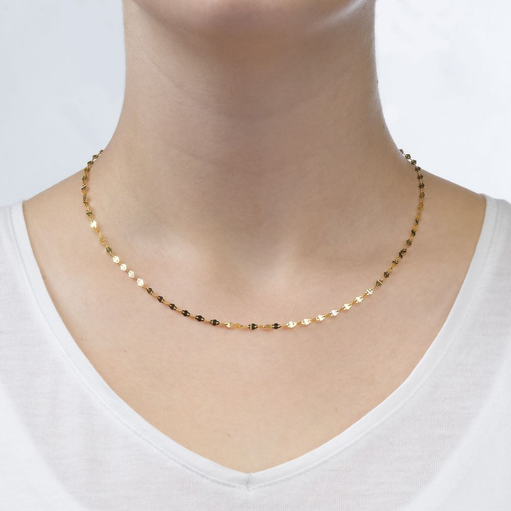 Gold Chains | Fortztha Chain Necklace Yellow Gold - Mesmerizing Presence, 2.4mm