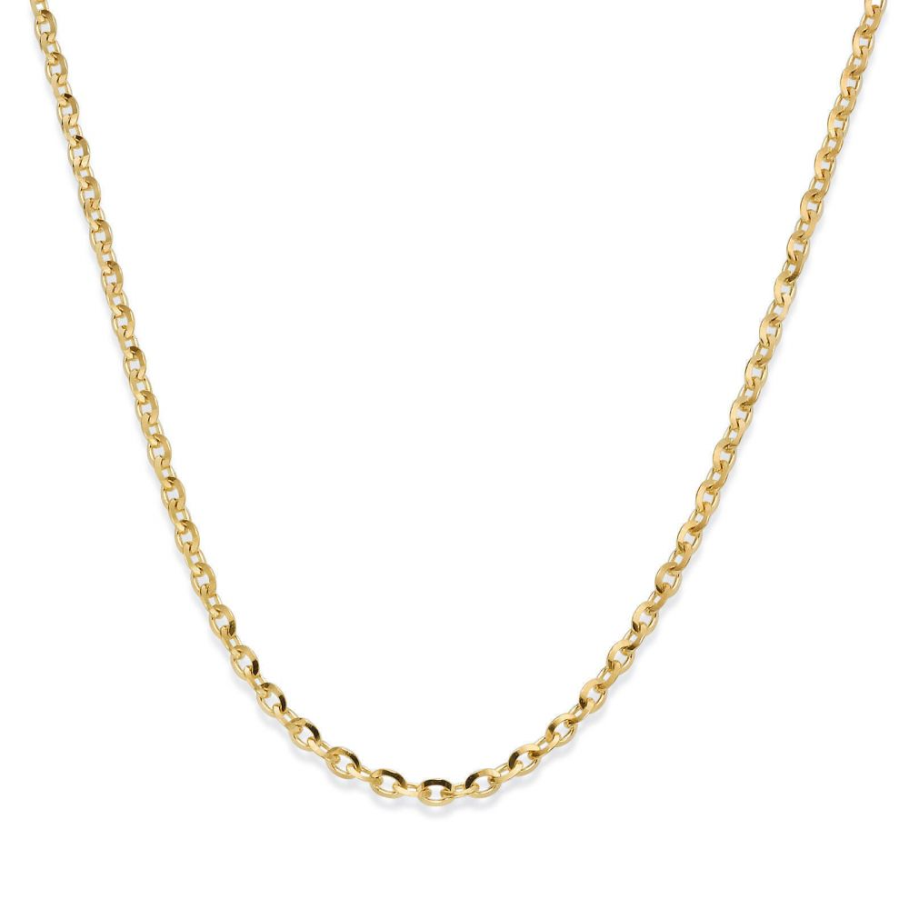 Gold Chains | Rollo Chain Necklace Yellow Gold - Links of Beauty, 1.6mm