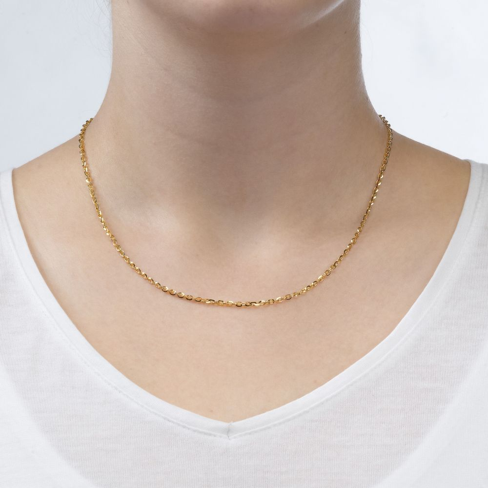 Gold Chains | Rollo Necklace - Links of Beauty, 2.15 MM