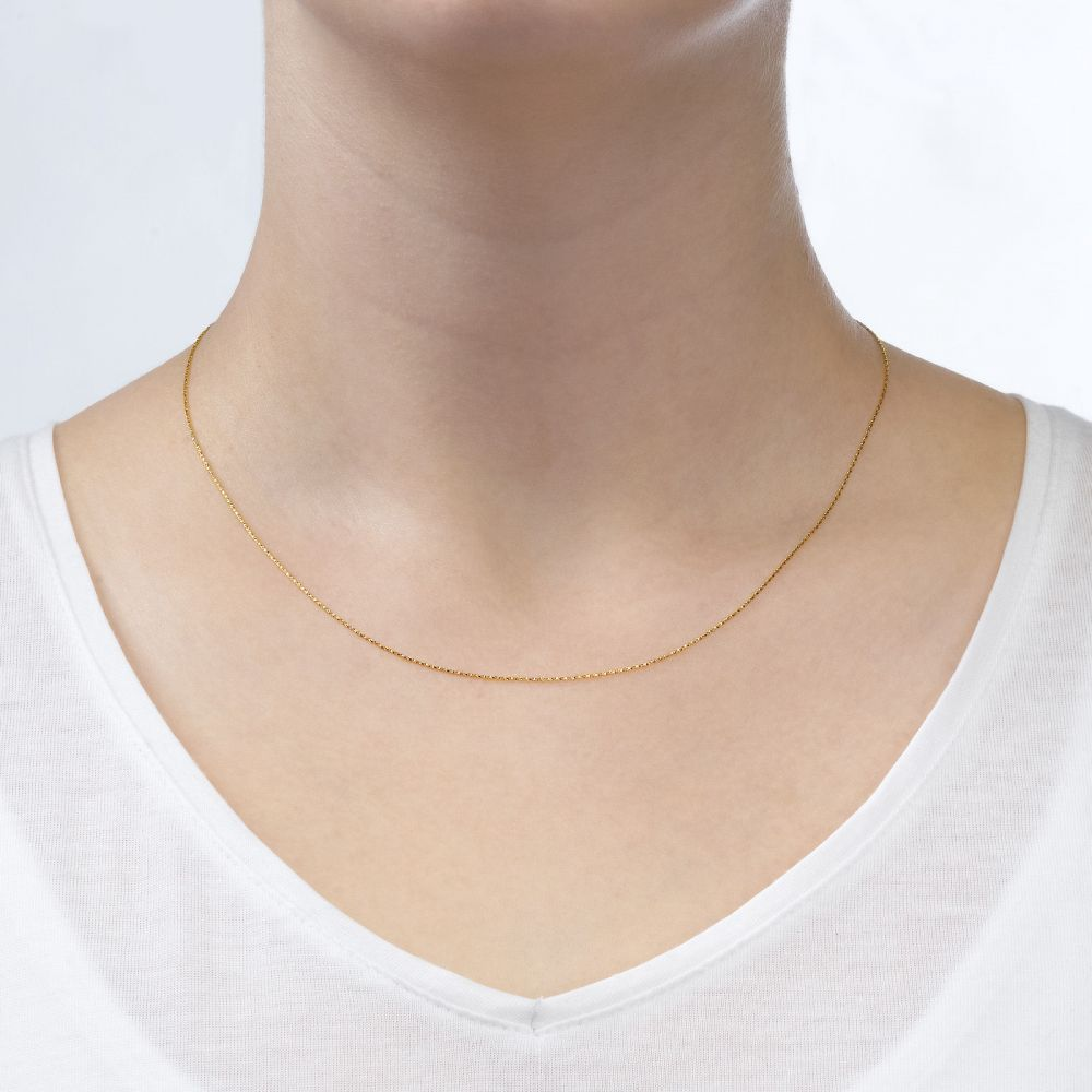 Gold Chains   Twisted Venice Necklace - Shining Bright, 0.53 MM