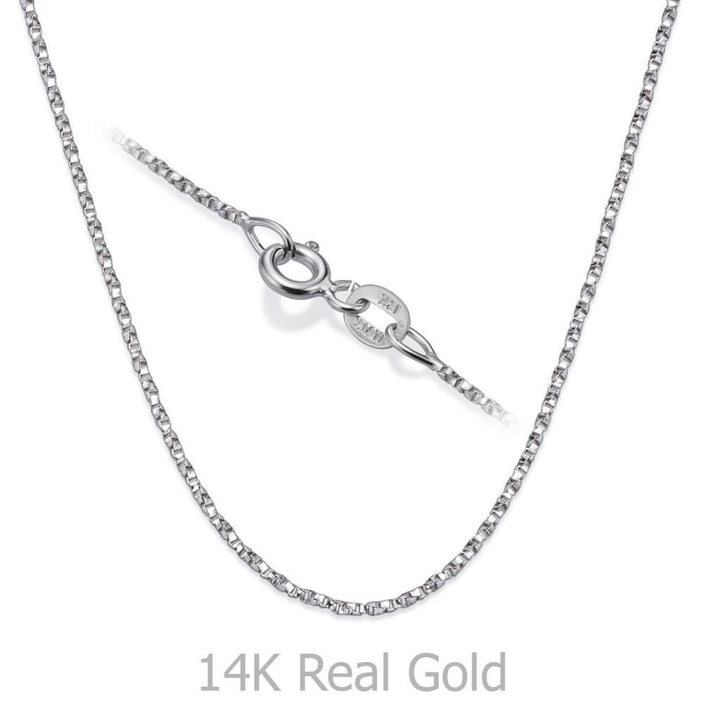 Gold Chains | Twisted Venice Necklace - Shining Bright, 0.8 MM