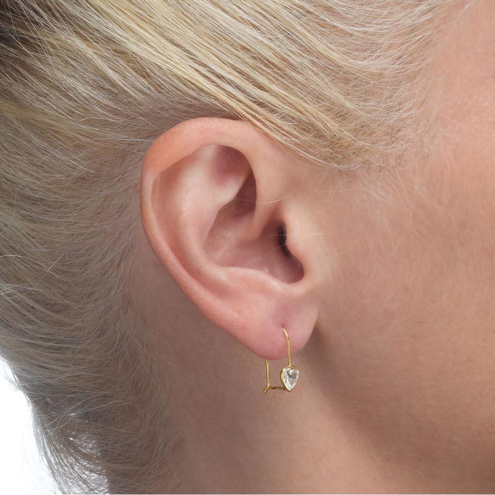 Gold Earrings | Earrings - Heart of Light