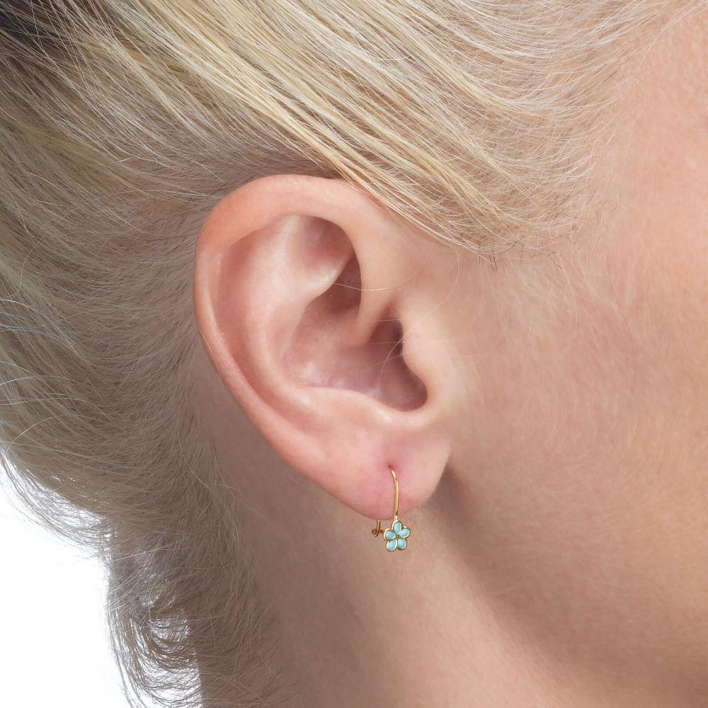 Girl's Jewelry | Earrings - Isabella Flower -Light Blue