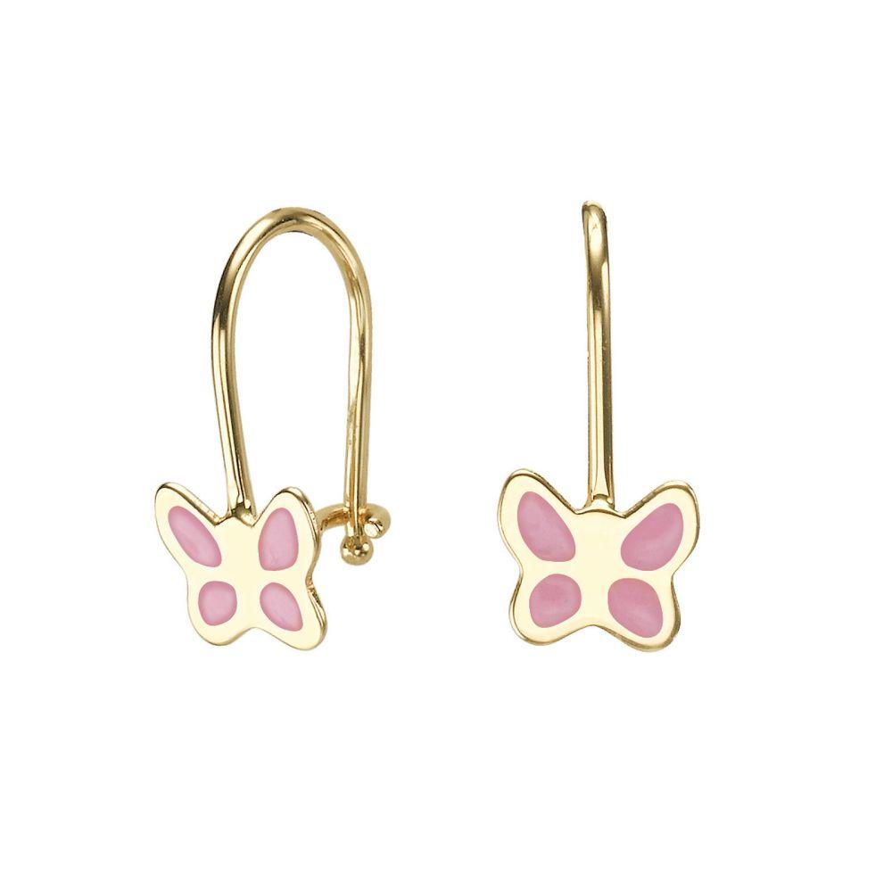 Girl's Jewelry   Earrings - Flutterby Butterfly