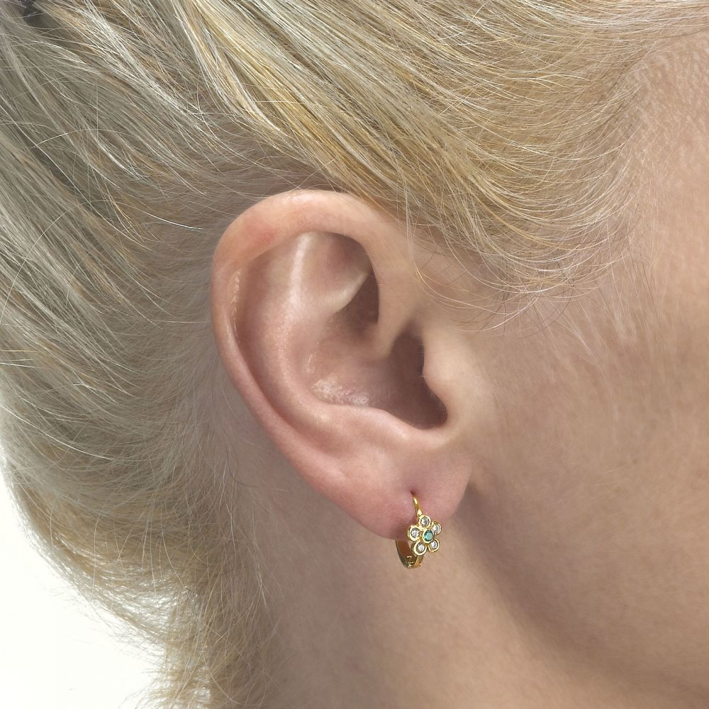 Gold Earrings | Earrings - Flower of Enchantment