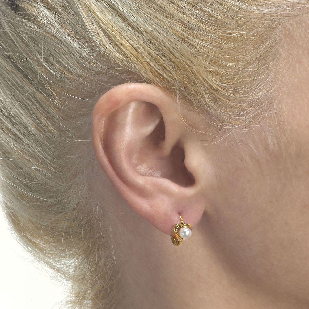 Gold Earrings | Earrings - Heart of Delight