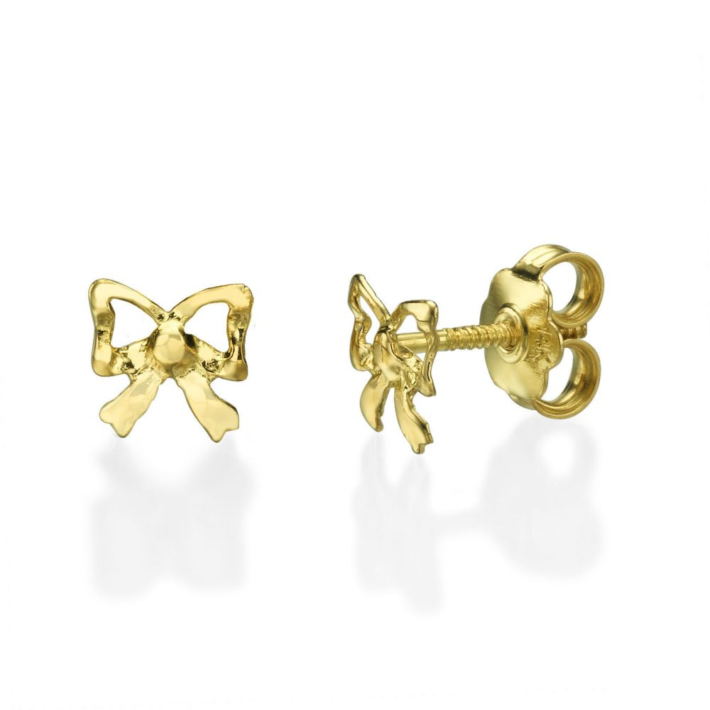 gold ball stud kay jewelers yellow pin earrings