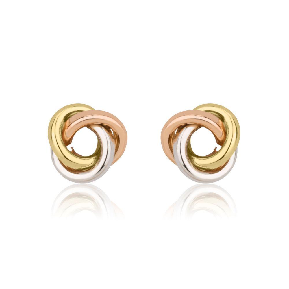 Girl's Jewelry   Gold Stud Earrings -  Circles of Karma