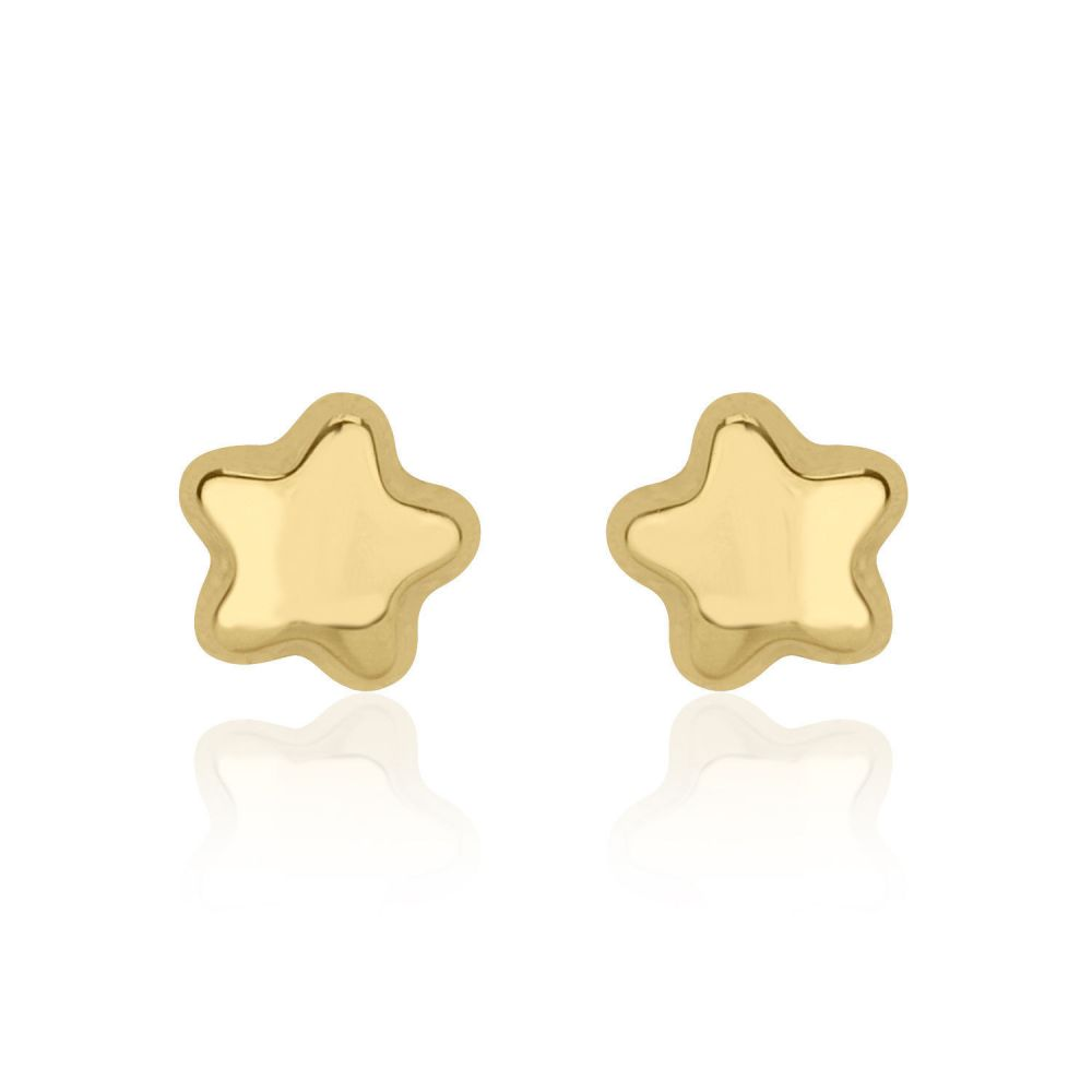 Girl's Jewelry | Gold Stud Earrings -  Shining Star