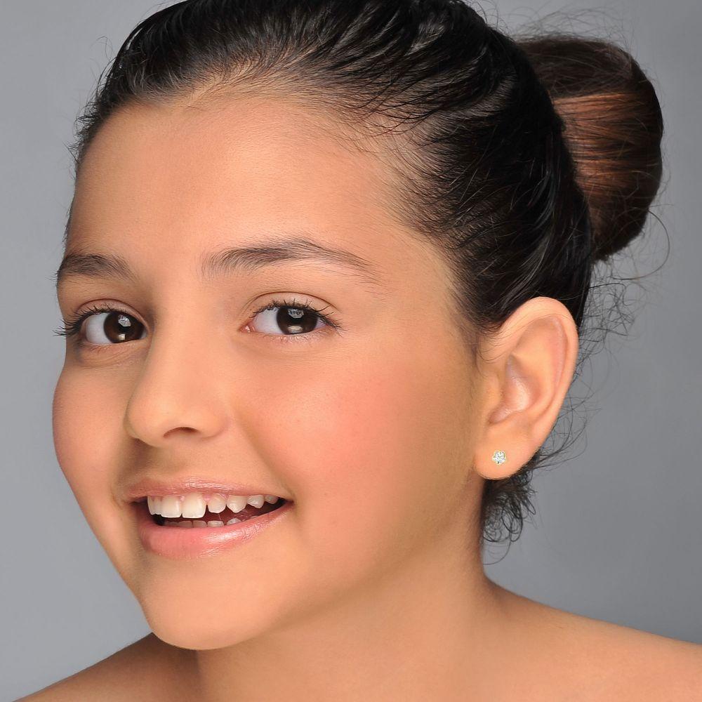 Girl's Jewelry | Gold Stud Earrings -  Night Star