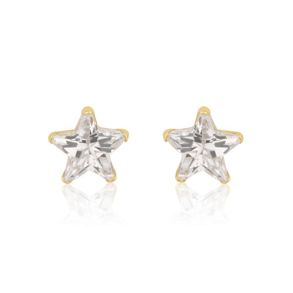 Girl's Jewelry   Gold Stud Earrings -  Twinkling Star