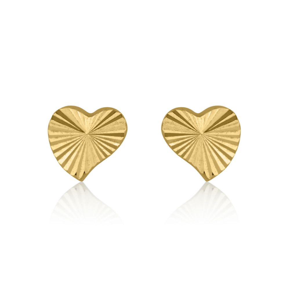 Girl's Jewelry | Gold Stud Earrings -  Noted Heart