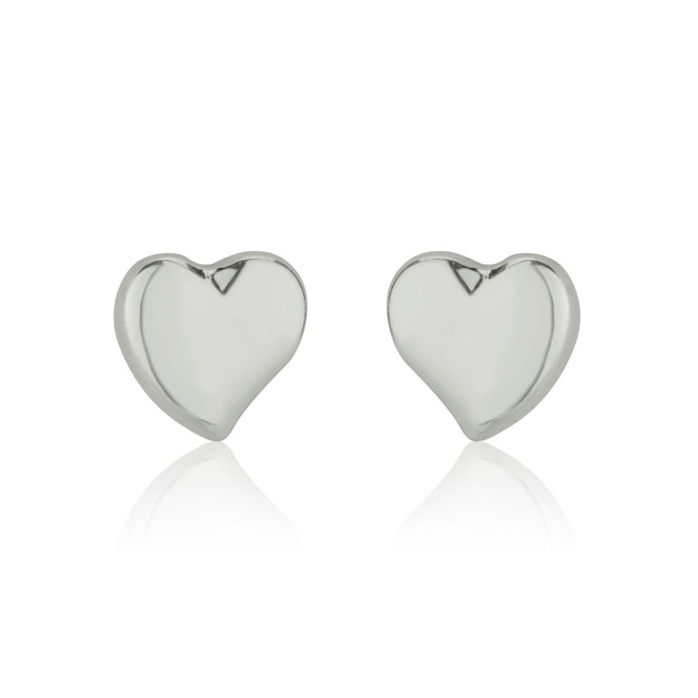 Girl's Jewelry | Gold Stud Earrings -  Classic Heart