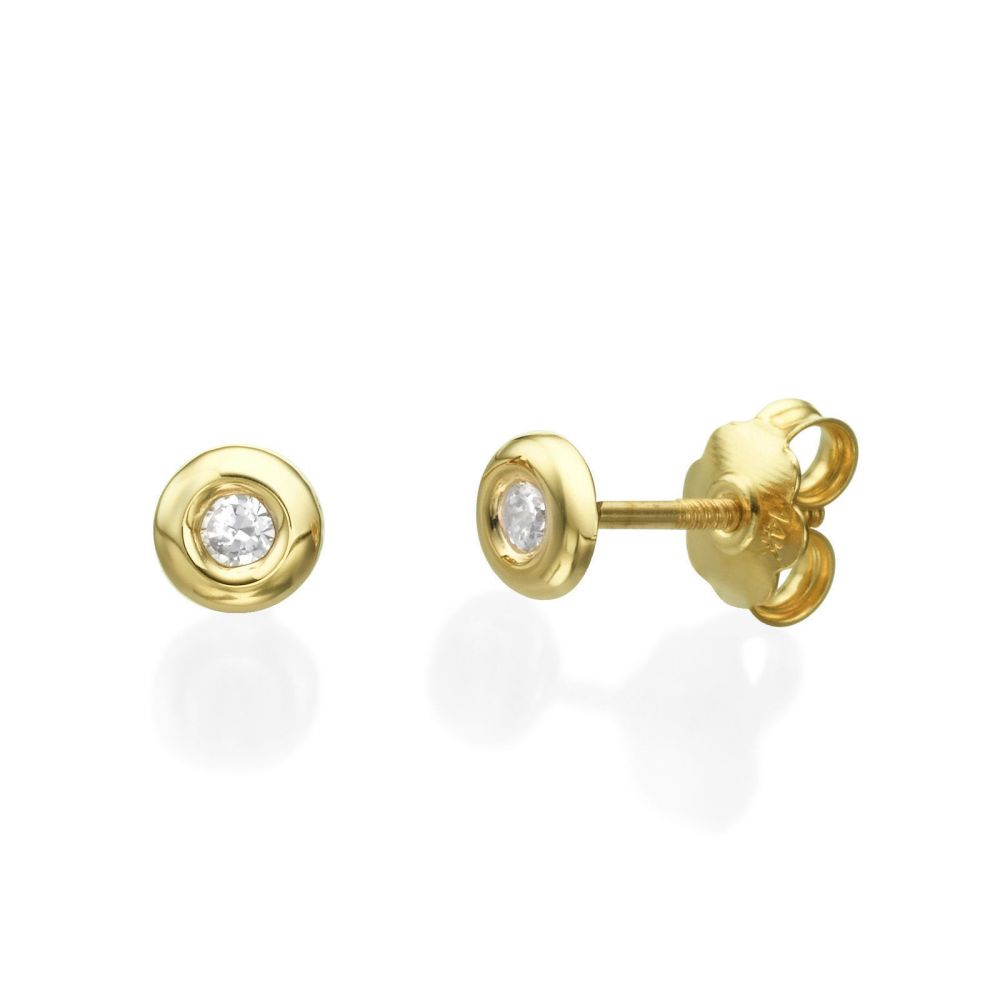 jewellers p large stud earrings beaverbrooks gold context the knot