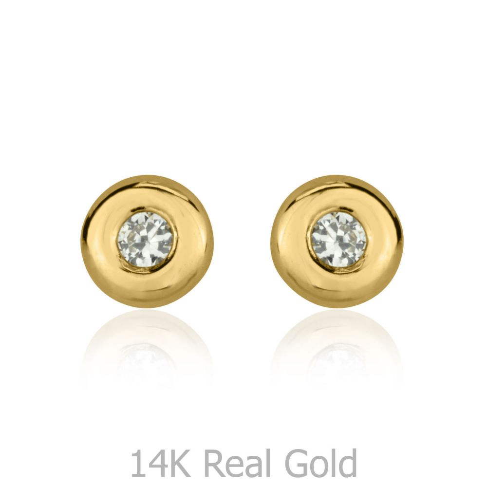 gold brushed large listing zoom il fullxfull mens earrings yellow stud