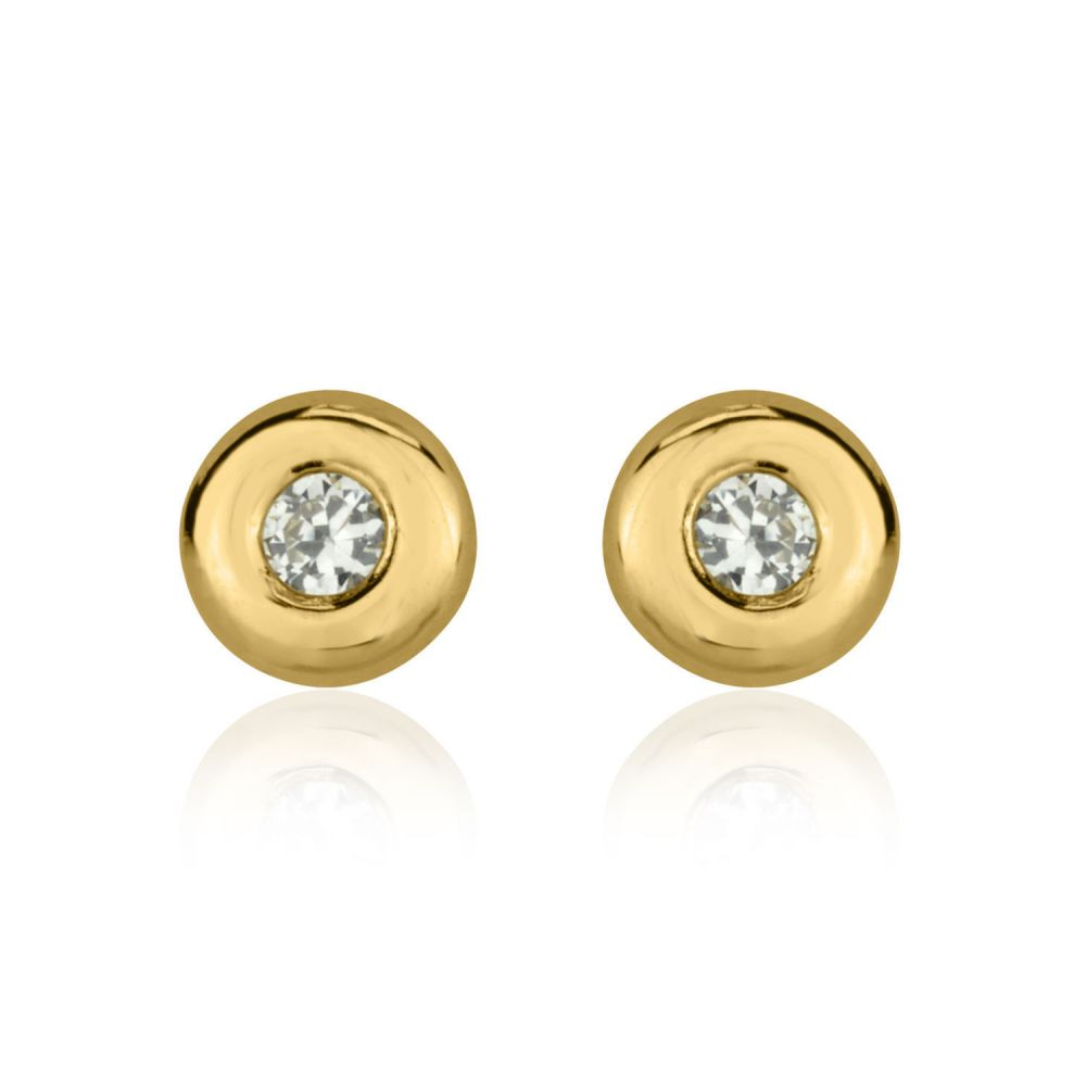 and petale earrings diamond tale large stud gold birks p yellow en