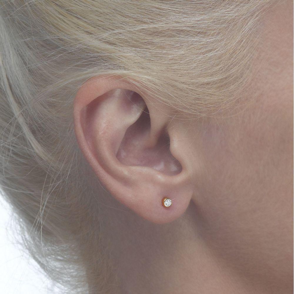 Girl's Jewelry | Gold Stud Earrings -  Majestic Circle