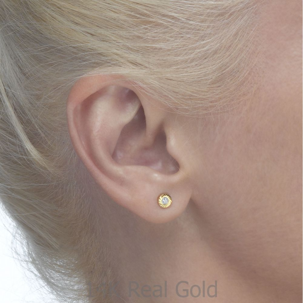 Girl's Jewelry | Gold Stud Earrings -  Katia Circle