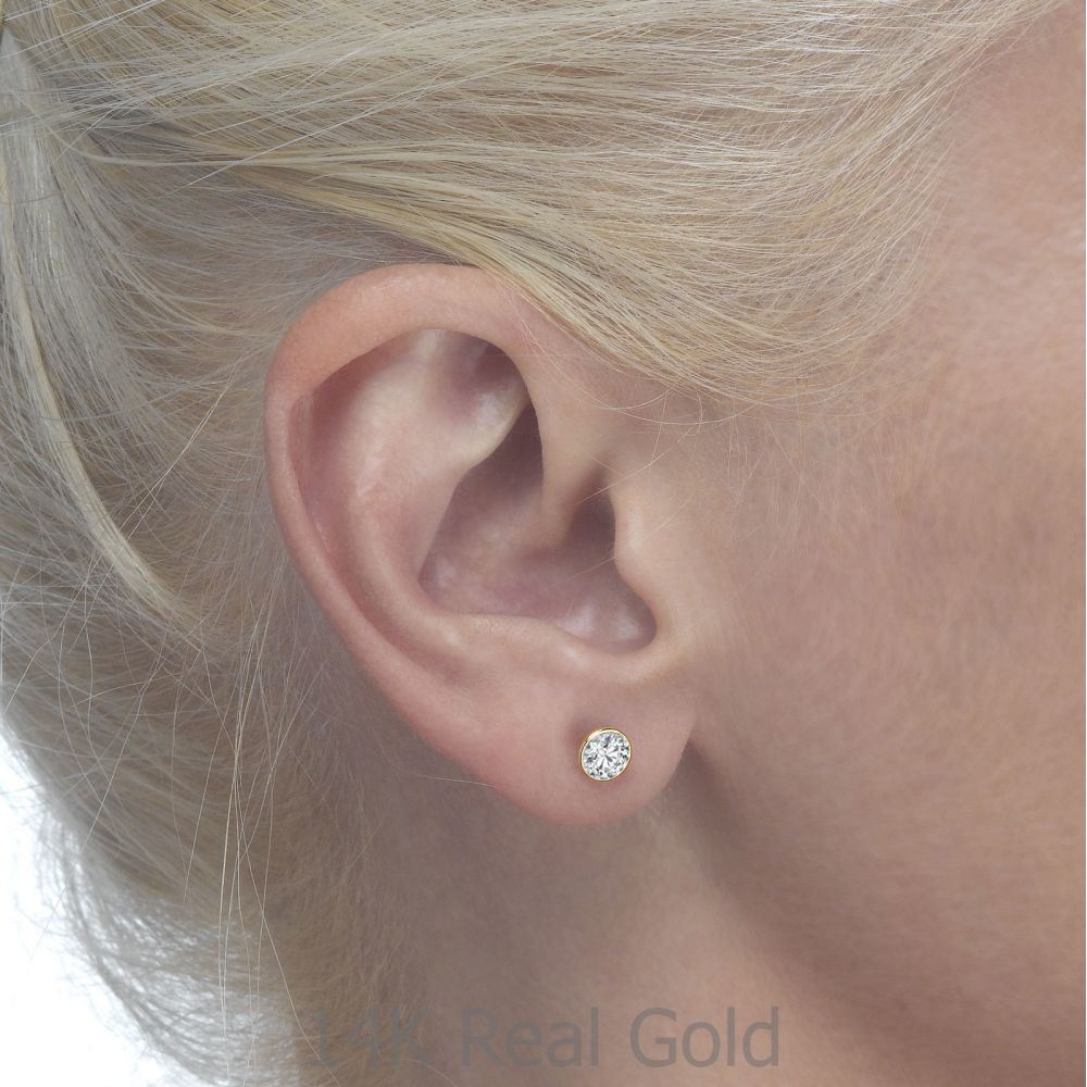 Girl's Jewelry | Gold Stud Earrings -  Circle of Monica
