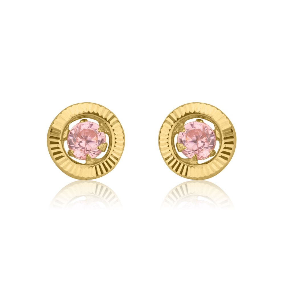 image small womens stud round diamond earrings from gold white