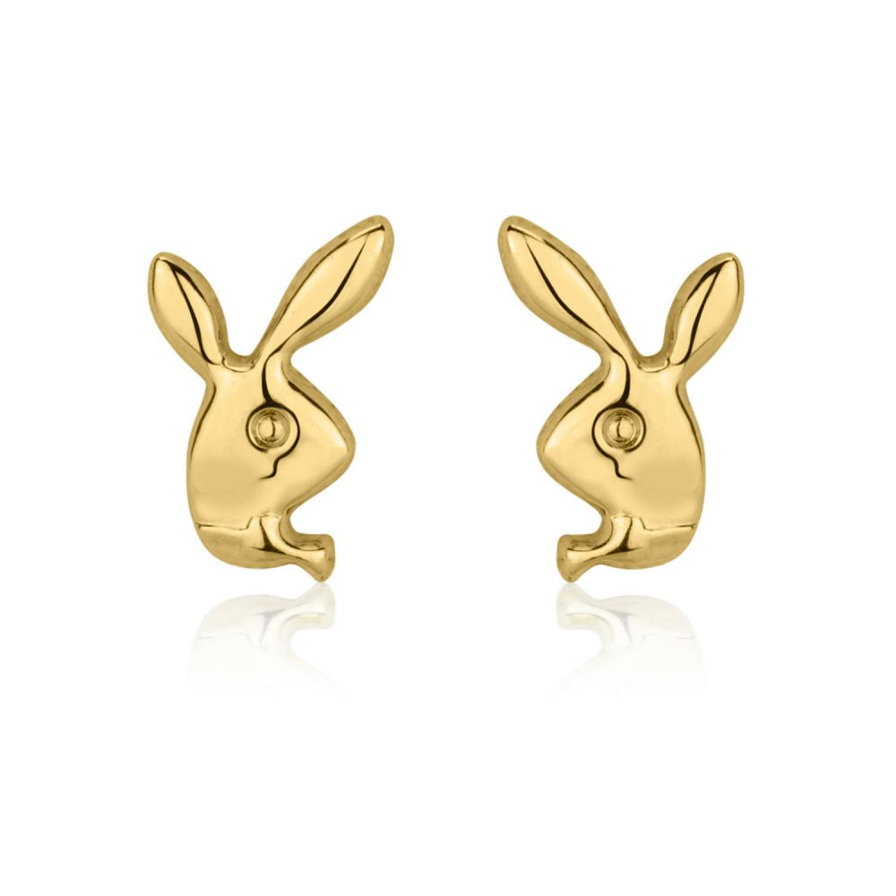 Girl's Jewelry | Gold Stud Earrings -  Sweet Rabbit