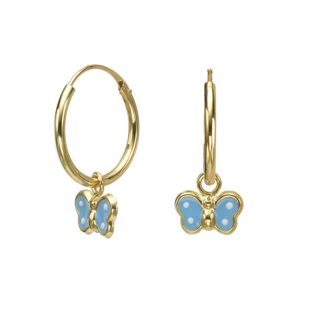 Earrings - Annabelle Butterfly - Light Blue. youme offers a range ...