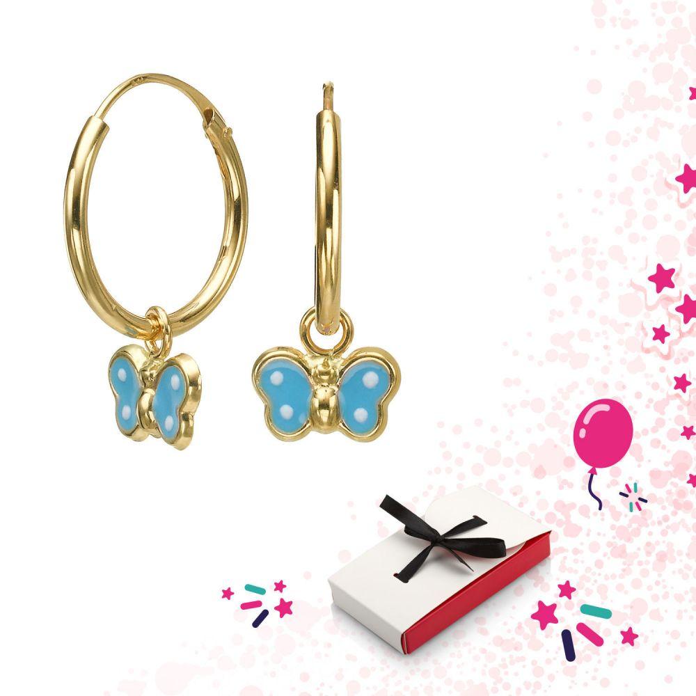 Girl's Jewelry   Earrings - Annabelle Butterfly - Light Blue
