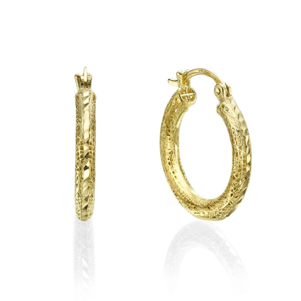 Hoop Gold Earrings - Golden Dream. youme offers a range of 14K ...
