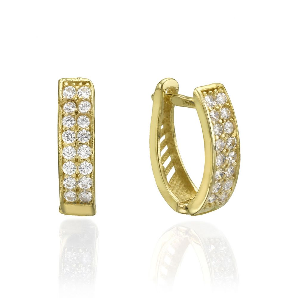 Huggie Gold Earrings - Hollywood. youme offers a range of 14K gold ...