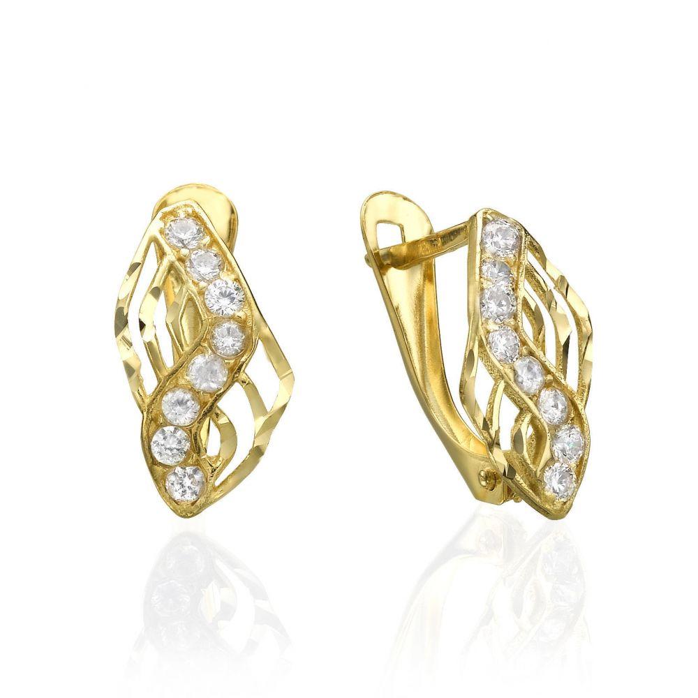 Gold Earrings Drop Lightning
