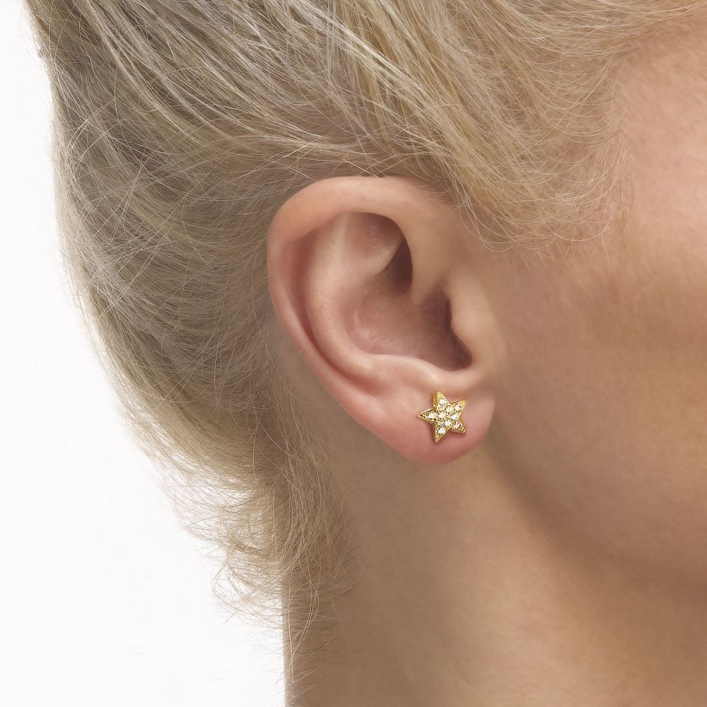 gold range earrings girl yellow offers circle classic a kids jewelry of youme stud small s