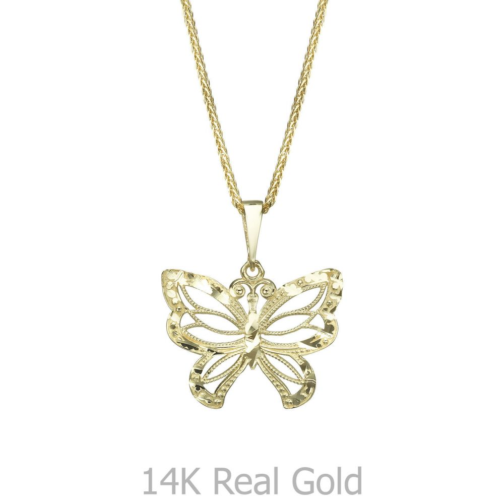 Gold pendant flying butterfly youme offers a range of 14k gold womens gold jewelry gold pendant flying butterfly aloadofball Choice Image
