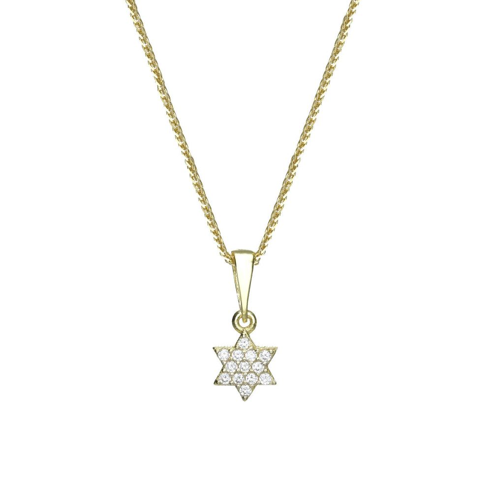 Gold pendant star of david shalom youme offers a range of 14k womens gold jewelry gold pendant star of david shalom aloadofball Images