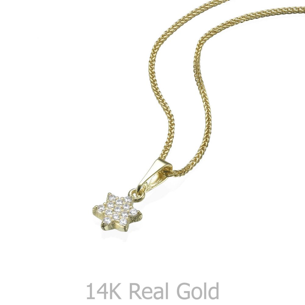 Women's Gold Jewelry | Gold Pendant - Star of David (Shalom)