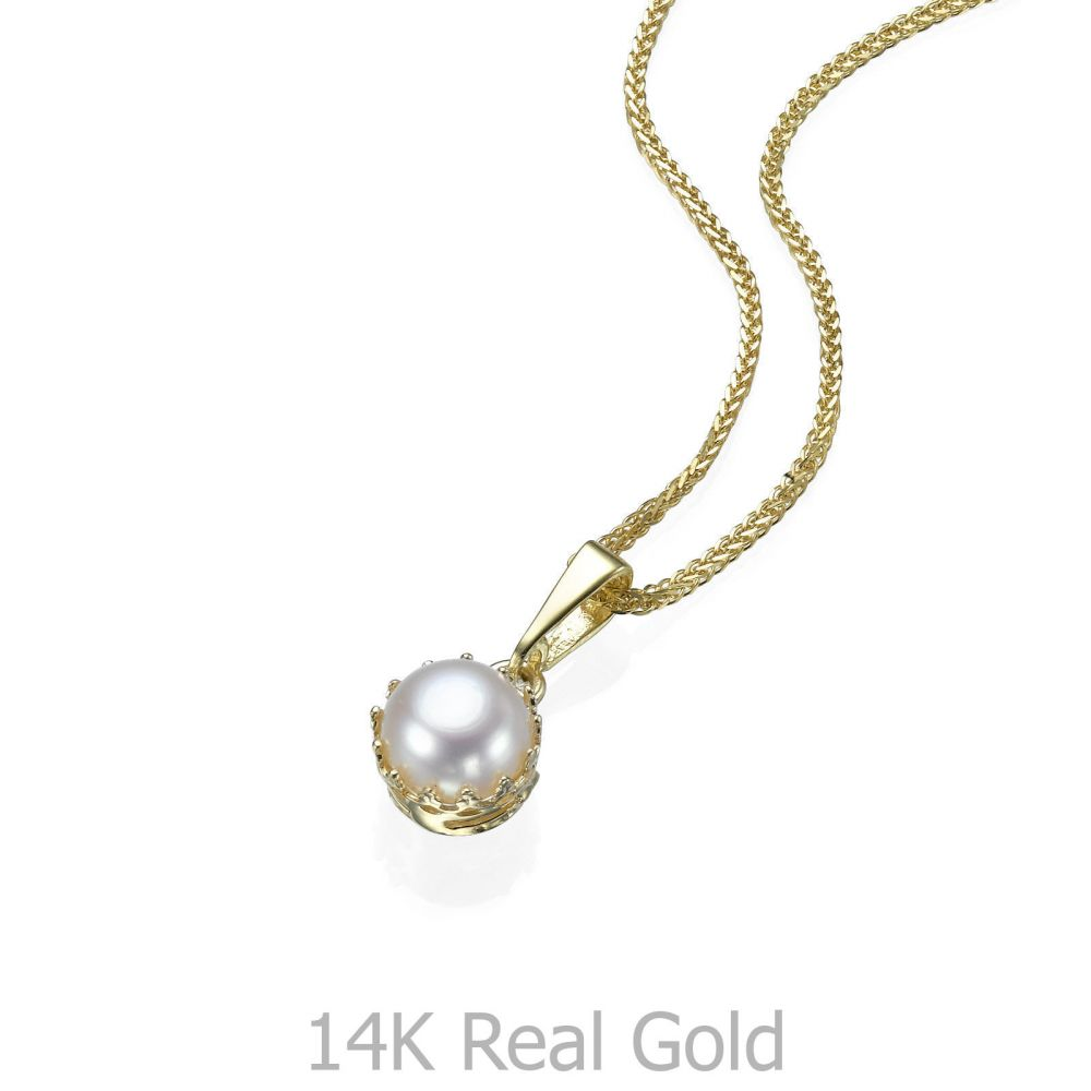 Gold pendant queen of pearl youme offers a range of 14k gold womens gold jewelry gold pendant queen of pearl aloadofball Images