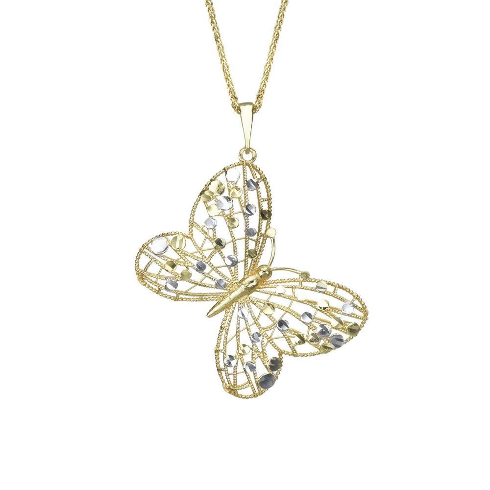 Gold Pendant - Golden Butterfly. youme offers a range of 14K gold ...